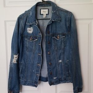 Forever 21 distressed denim jacket